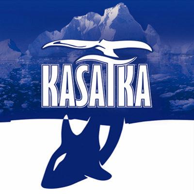 Разработка логотипа, дизайна этикетки и формы бутылки для водки ТМ «KASATKA»