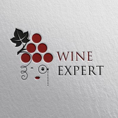 Разработан логотип для винного эксперта (девушки)